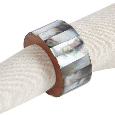Charcoal Mother-of-Pearl Napkin Ring #napkinrings