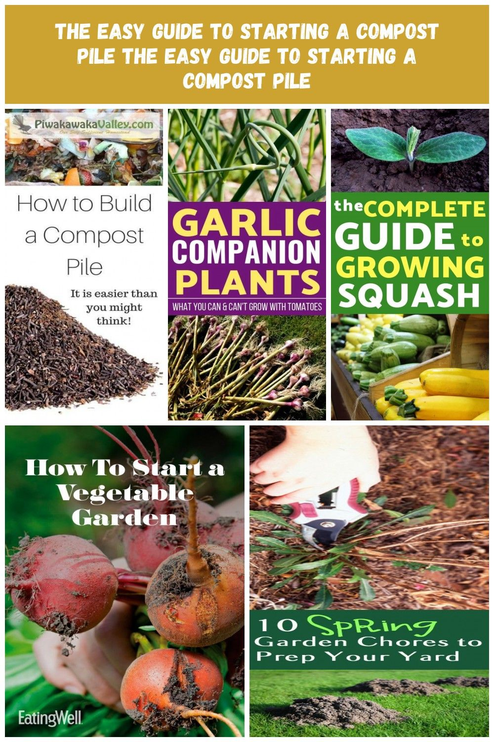 Composting Beginners Starting Compost Guide Easy Pile The
