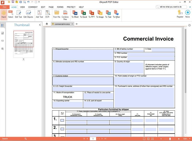 make an interactive fillable PDF form within 12 hours - how do i create an invoice