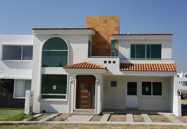 Frente de casas buscar con google arquitectura for Fachadas de frente de casas