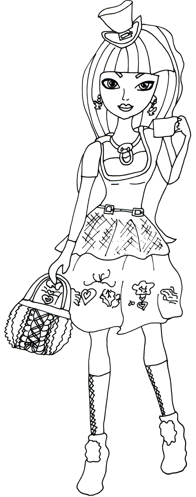 Free coloring pages ever after high - Free Printable Ever After High Coloring Pages Cerise Hood Hat Tastic Ever After High