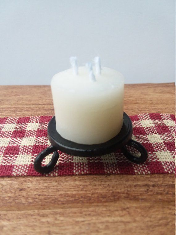 Miniature Wax Candle, Dollhouse Accessory, Modern Mini, Christmas Decoration #dollhouseaccessories