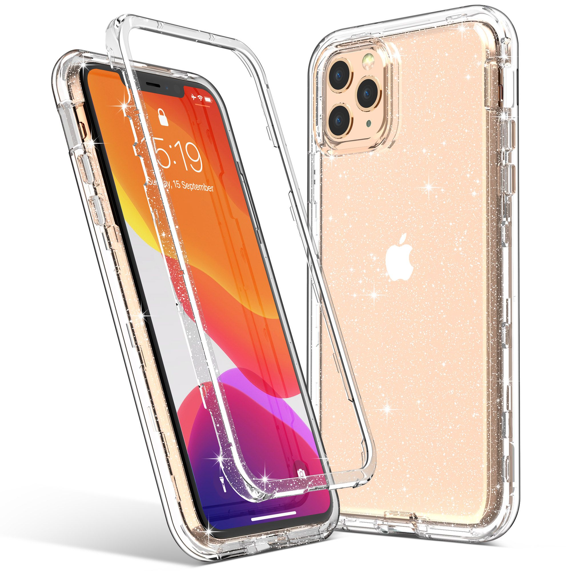Iphone 11 Pro Clear Glitter Case Bling Phone Covers Apple Phone Case Iphone Phone Cases
