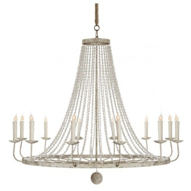 Beaded chandelier colorfinish light gray all chandeliers come with aidan gray naples chandelier in white large single tier chandeliers lighting candelabra inc mozeypictures Images