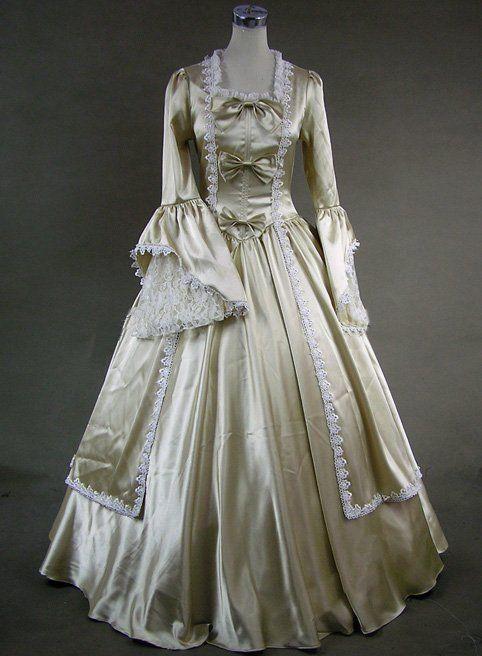 Marie antoinette victorian dress wedding gown 147 l for Marie antoinette wedding dress