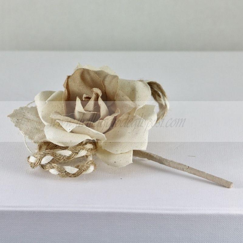 Vendita online Rosa grande con racchette portaconfetti e corda/ Shabby rose Acquistabile/Available www.ilvillaggiodeglisposi.com