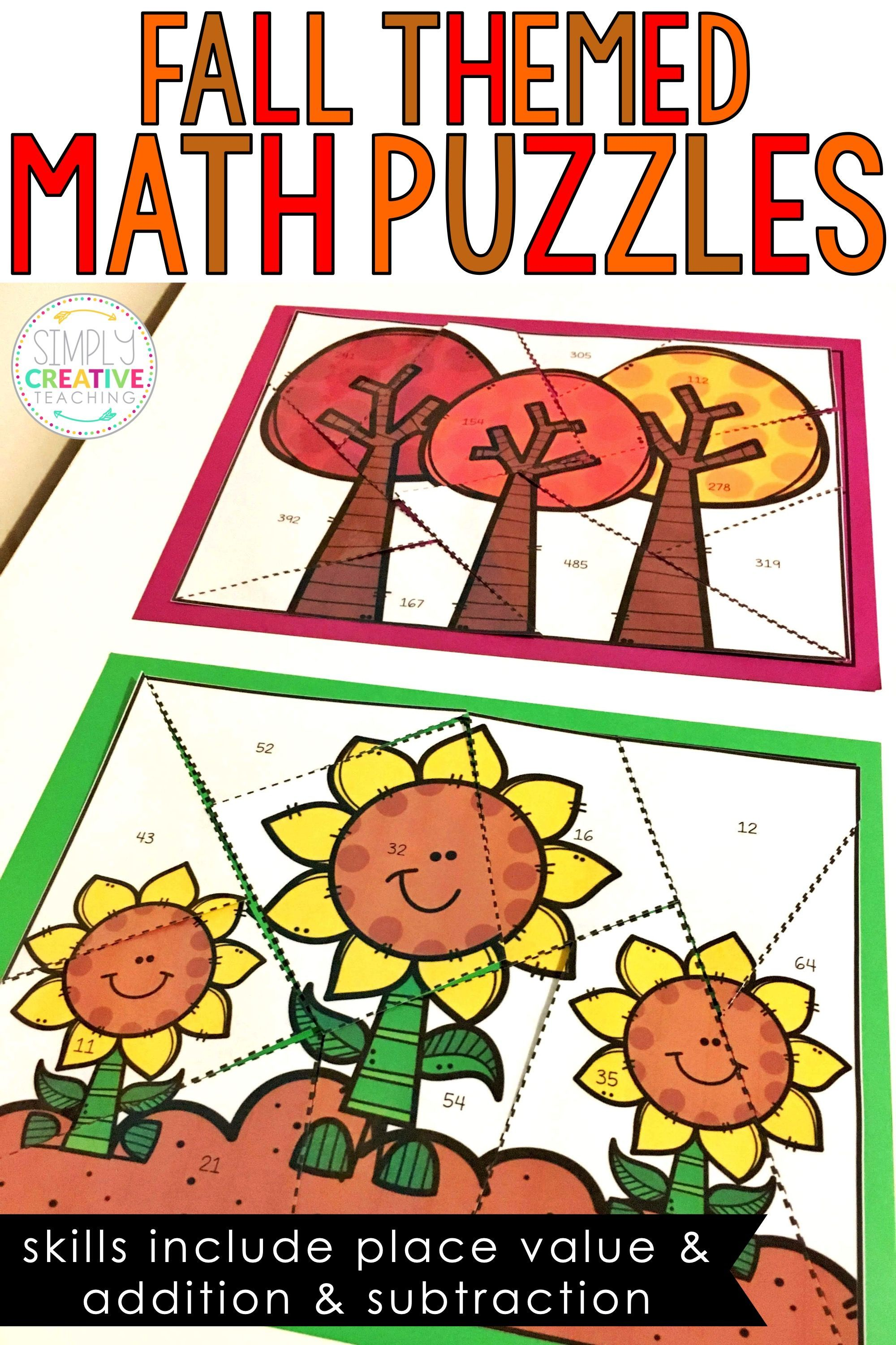 Math Puzzles For Fall