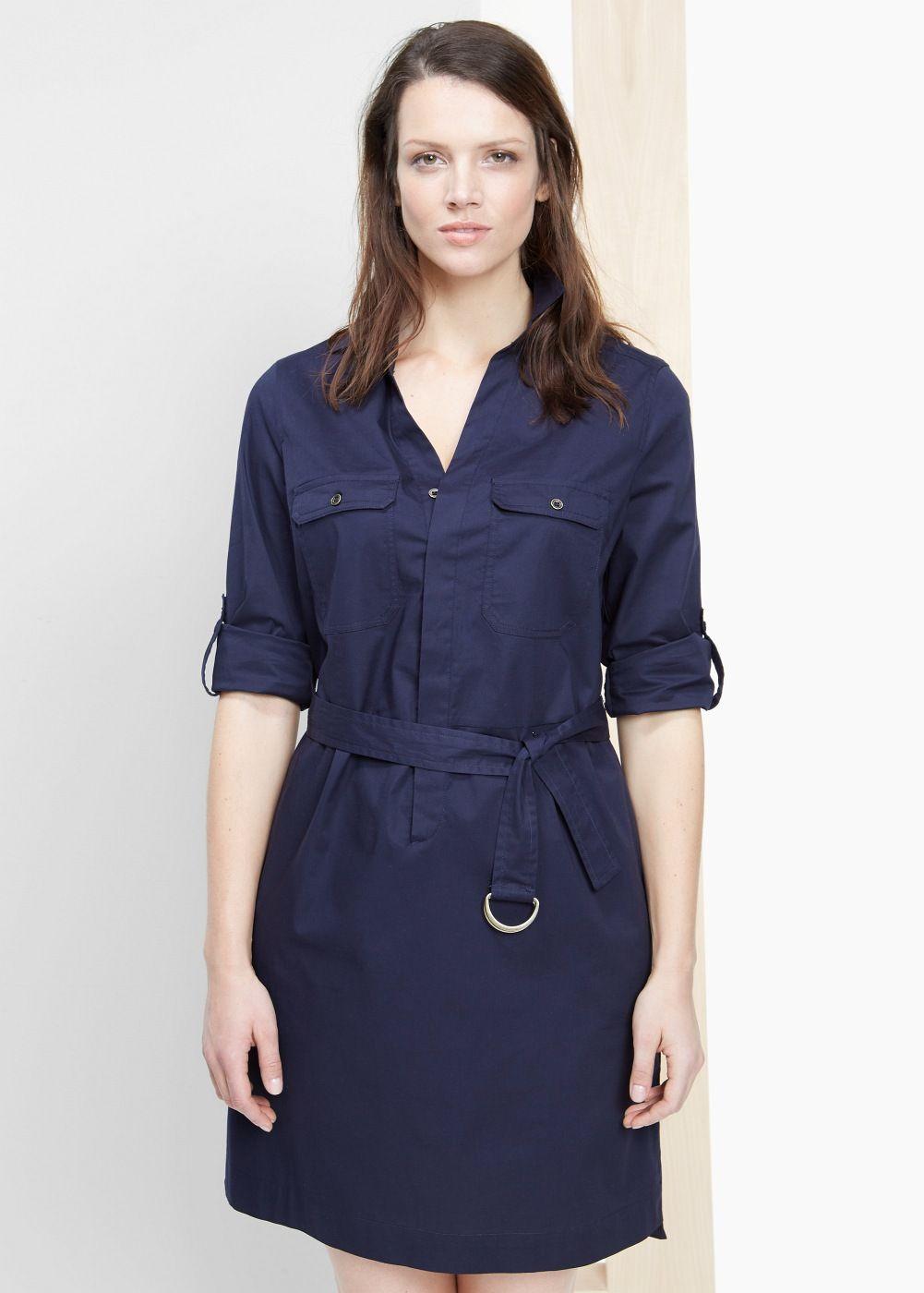 add269a1a Vestido camisero cinturón