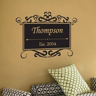 Behind Decorated Doors Name Wall Decals Wall Decal Sticker Monogram Wall Art