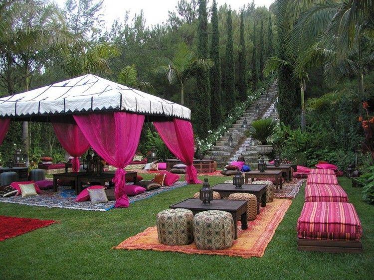 garden party et idée déco originale de style marocain, tonnelle avec ...