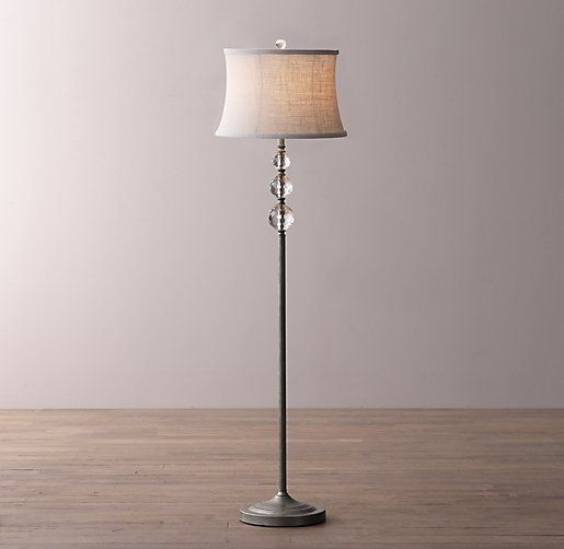 Lourdes Crystal Ball Floor Lamp Base | Apartment | Pinterest ...
