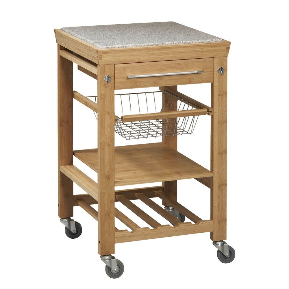 Portable Kitchen Island Target Kitchen Cart With Granite Top Wood/natural - Linon Home