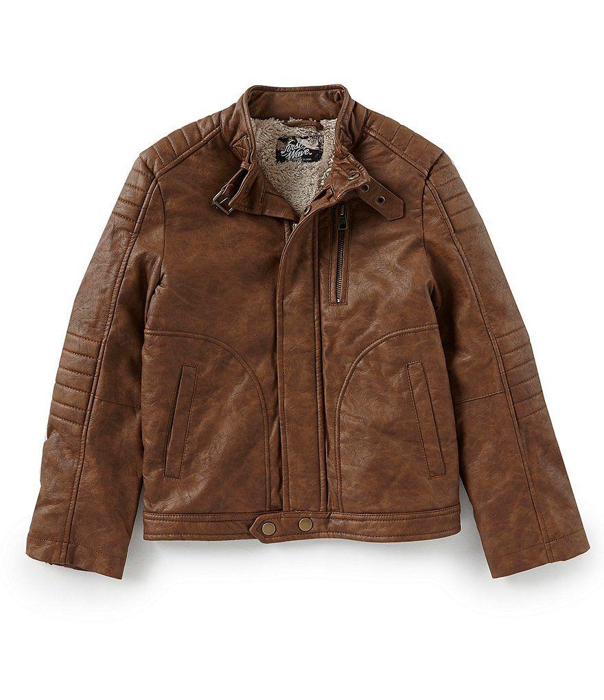 First Wave Big Boys 820 Faux Leather Moto Jacket Moto