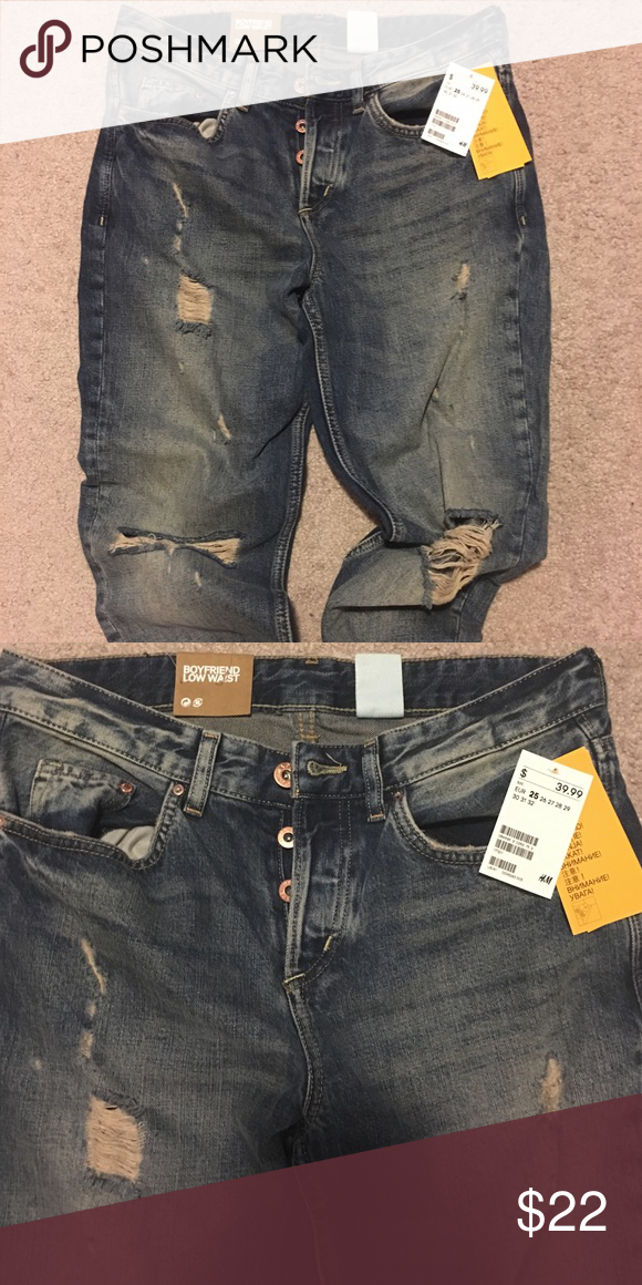 New jeans from H&M with tags. Boyfriend low waist. Size 25. Never wore. Brand new with tags. H&M Jeans Boyfriend