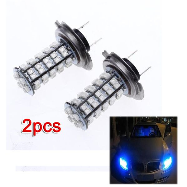 10x 2 H7 68 Smd Led Lampe Ampoule Bulb Bleu Pr Vehicule Auto Light Bulb Lamp Car Lights Led Light Bulb