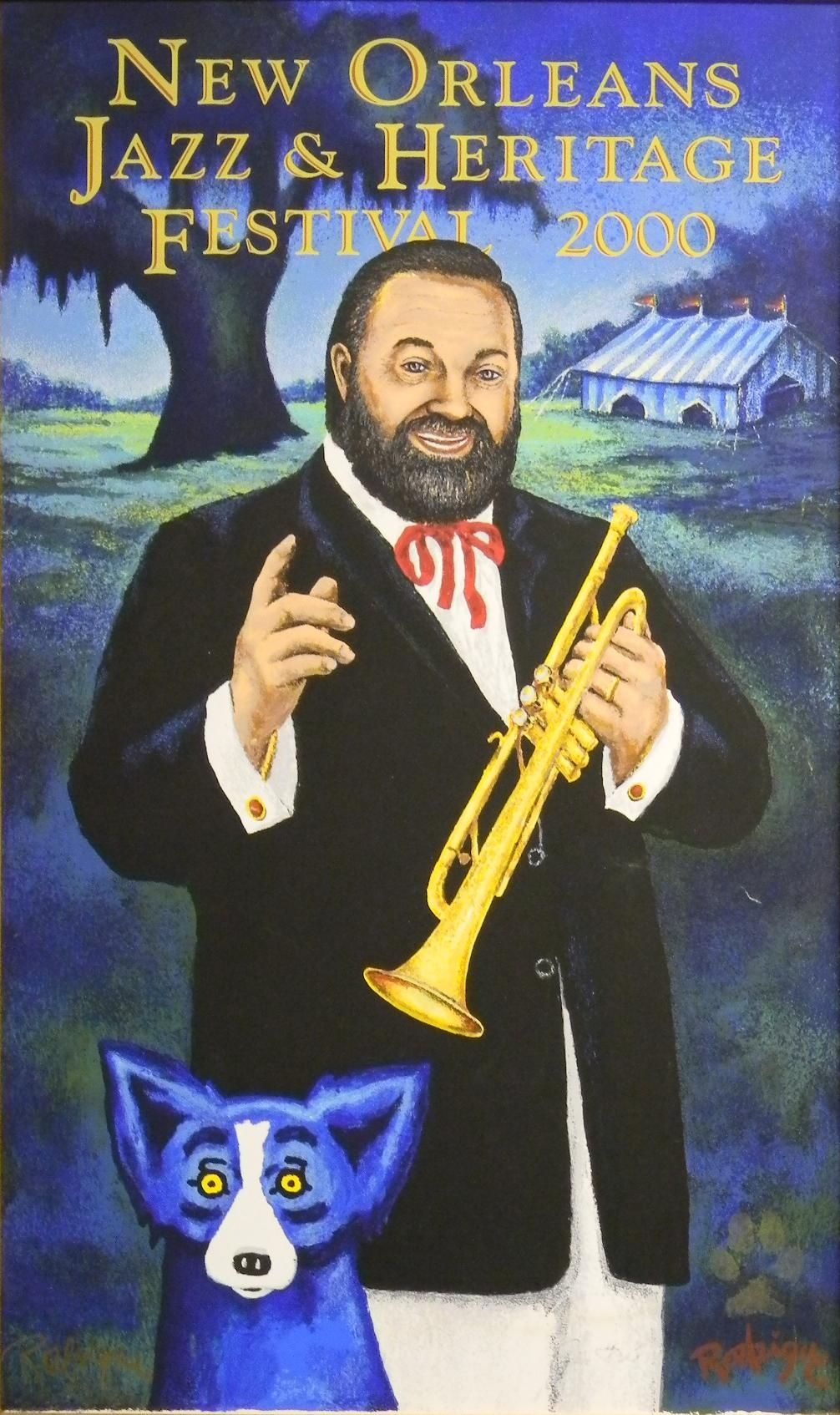 www.art4now.com - in Vintage Jazz Fest 2000 New Orleans Jazz & Heritage Festival poster