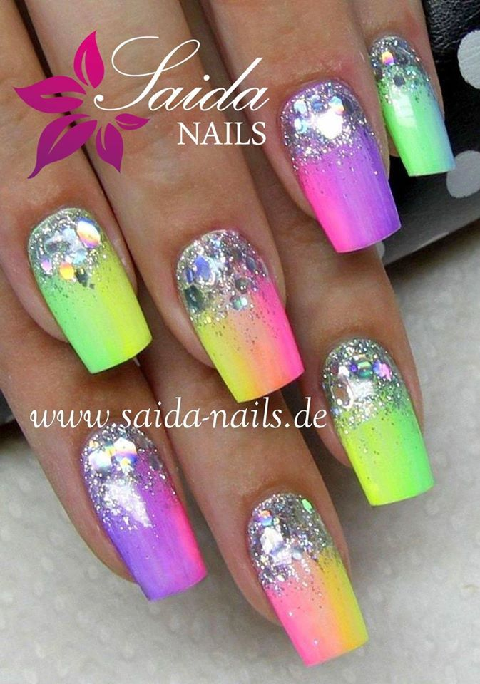 Beautiful Wedding Nail Art Designs With Images Neon Nail