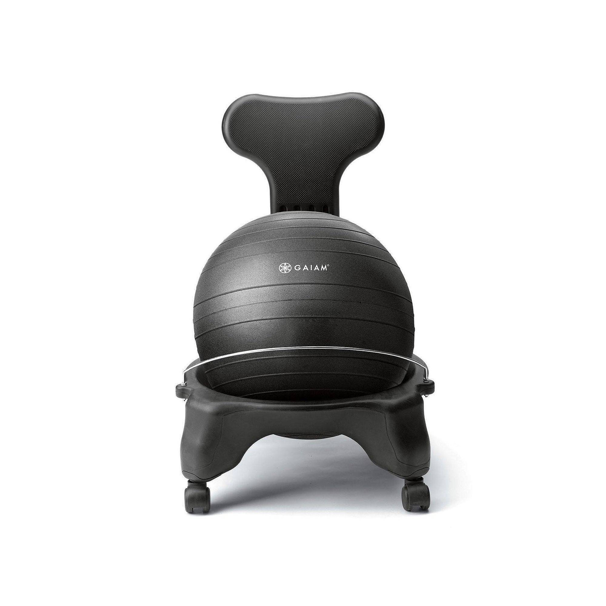 Gaiam Classic Balance Ball Chair Black