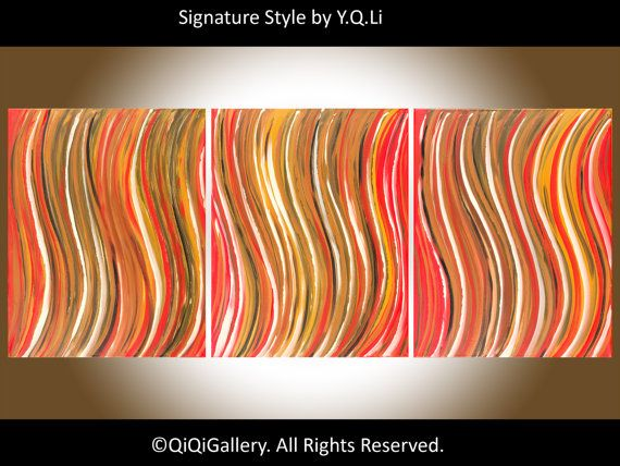 New Years Sale Abstract Painting Original Modern by QiQiGallery, $385.00