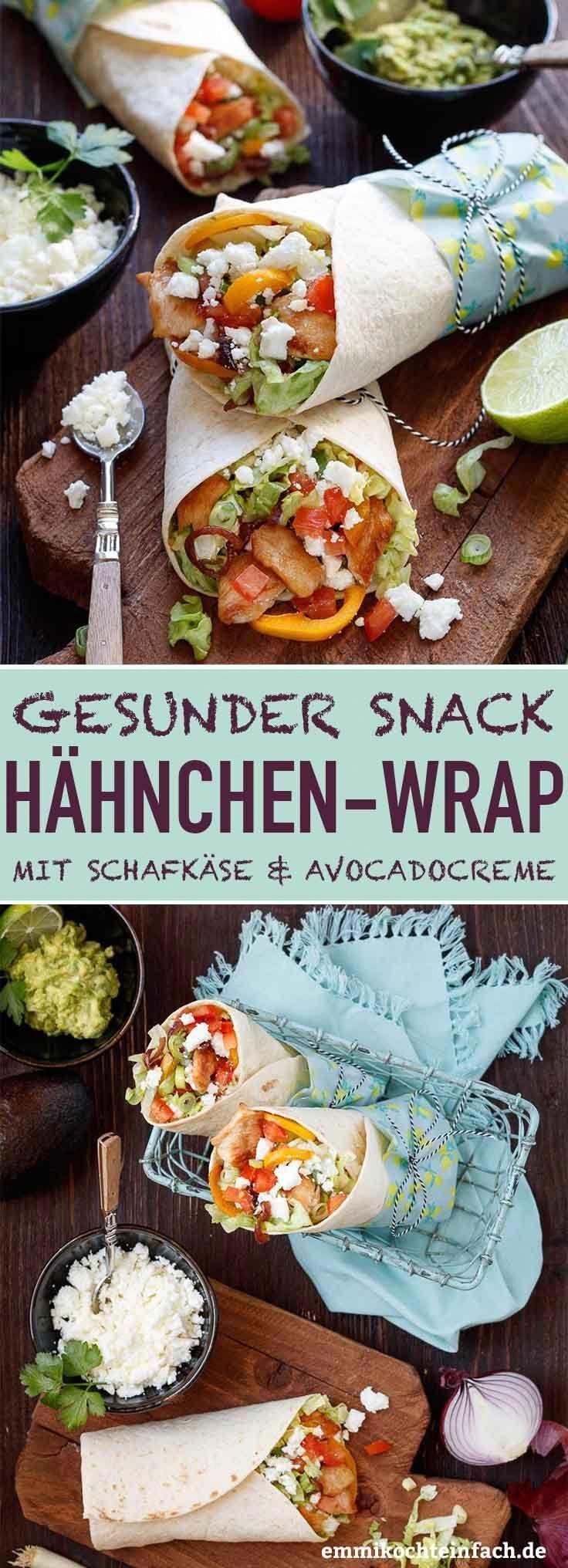 Wrap with chicken, sheeps cheese and avocado cream  - Reisesnacks - Rezepte für Unterwegs -