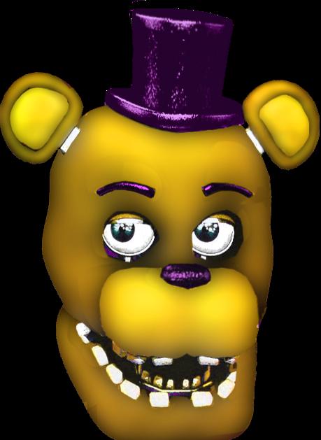 Unwithered Fredbear Head 1973 Fnaf Golden Freddy Fnaf Five Nights At Freddy S