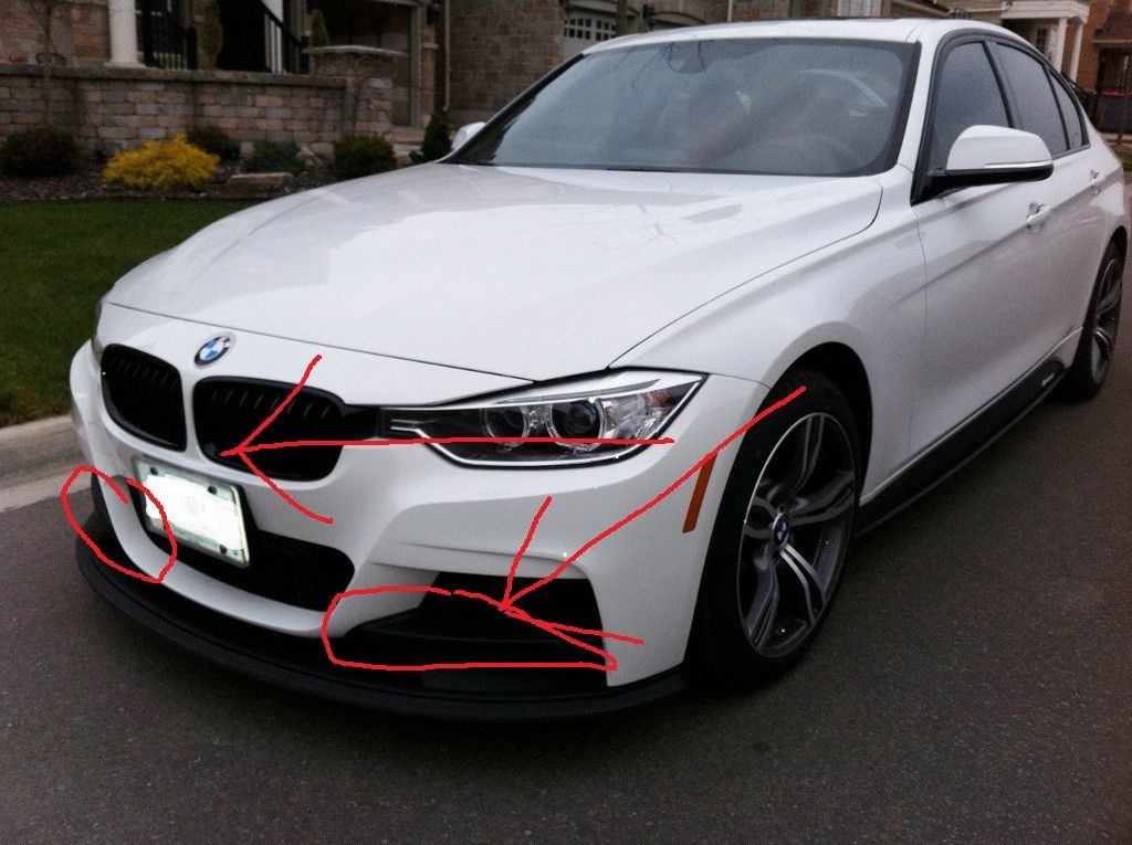 White M Performance, show what changes on front bumper