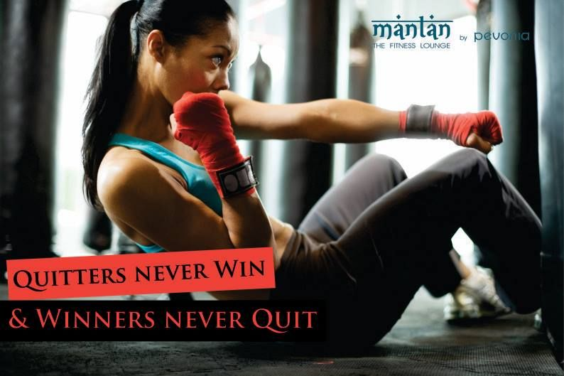 Winners Never Quit Fitness Mantan Motivation