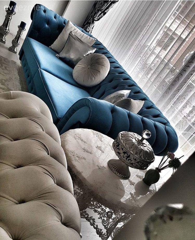 Klasik ve modernin harmanı, göz alıcı bir dekor.. Filiz hanımın evi.