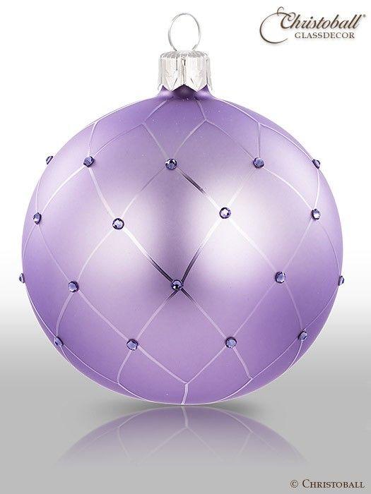 Christbaumkugeln Violett.Coco Christbaumkugeln Lavendel Lila Christmas In Purple