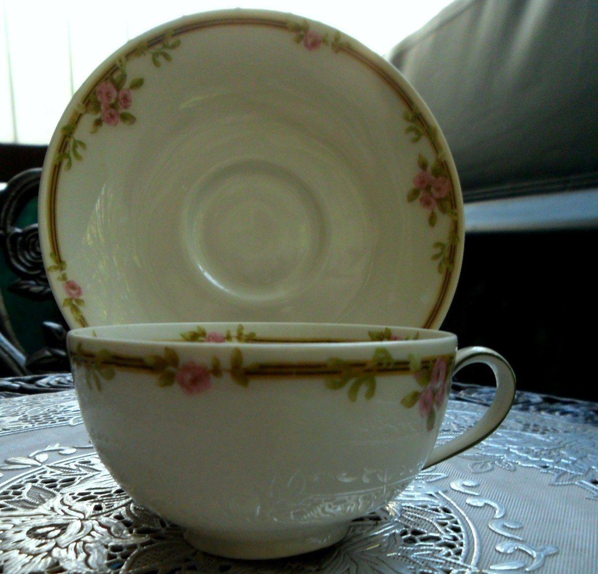 Taza de t de porcelana francesa limoges theodore haviland for Tazas de porcelana