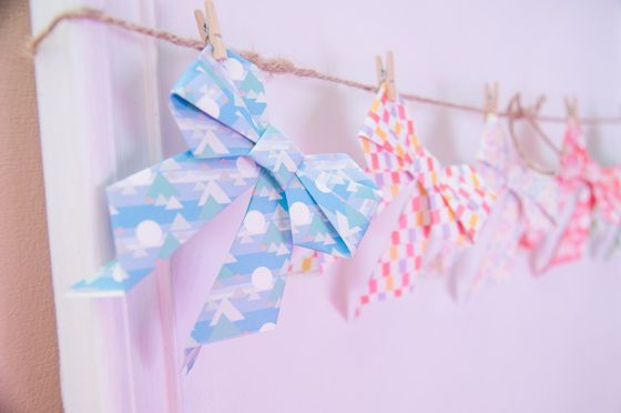 Diy Origami Bow Video Tutorial This Would Be Super Cute Mixed
