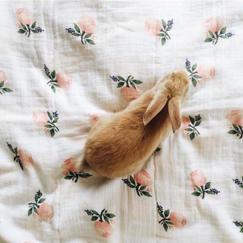 Soft Flamingo Lemon Pineapple Print Muslin Cotton Baby Swaddle Blanket -