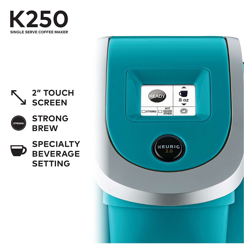 Amazon.com: Keurig 119277 K250 Coffee Maker, Turquoise: Home & Kitchen | Single serve coffee ...