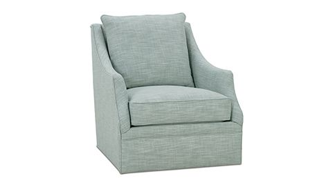 With A Neat Linen Blend Upholstery, And Swooping Arms, This Swivel Club  Chair Adds A Tailored Sophistication To A Master Bedroom, A Nook, Or Any  Other.