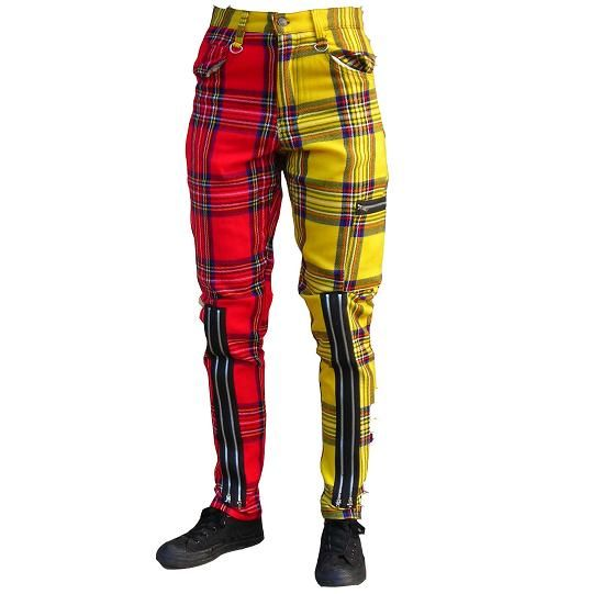 Plaid, Yellow and Pants on Pinterest