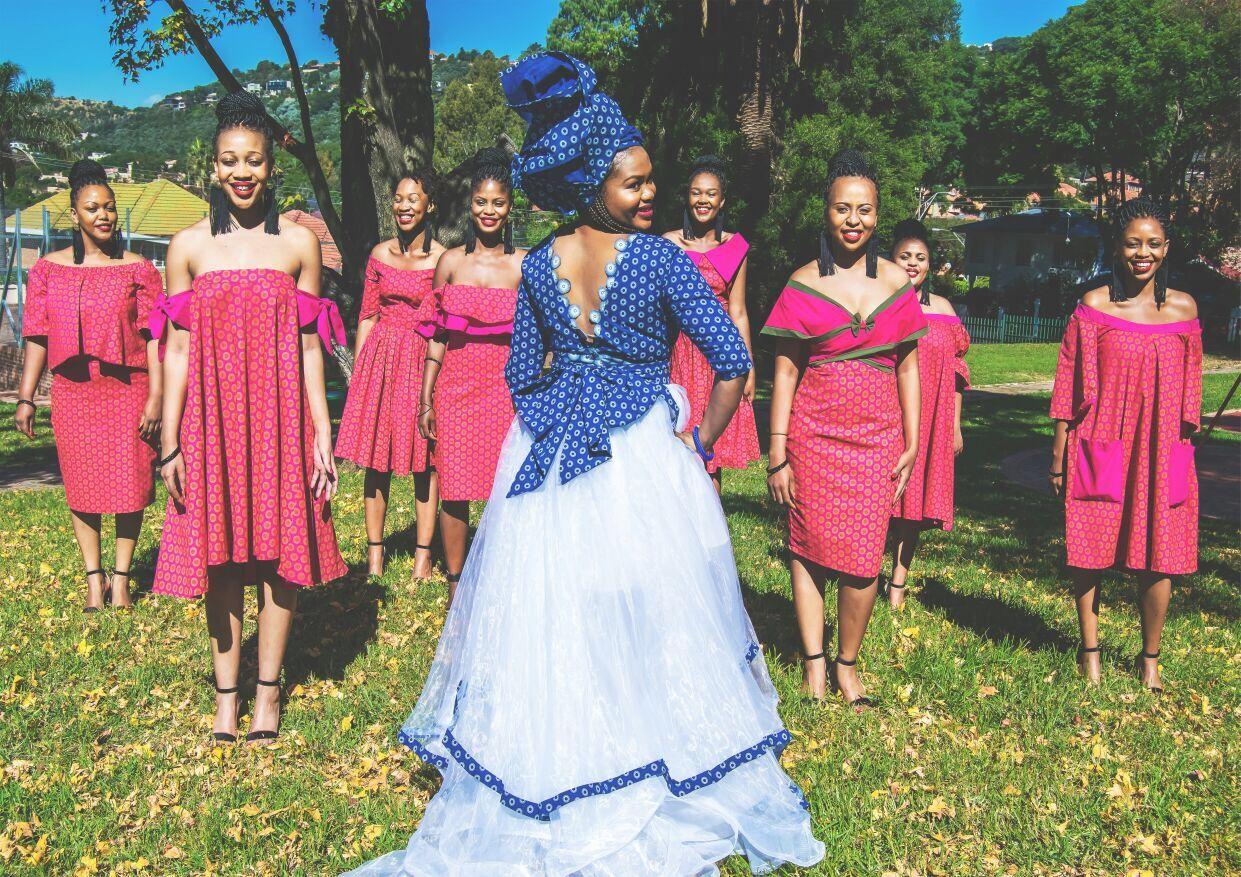Shweshwe Wedding Dress Tswana Wedding Dress Sesotho