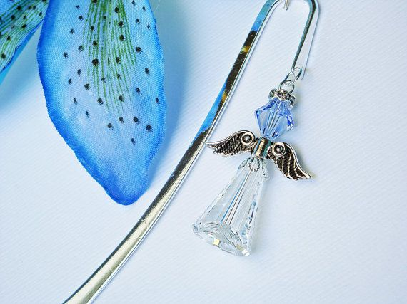 Crystal Angel Bookmark Sapphire Blue Angel by CrystalBlueDesigns