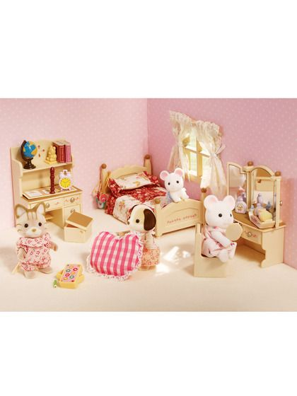 Sister S Bedroom Set Calico Critters Furniture Calico Critter Calico Critters Families