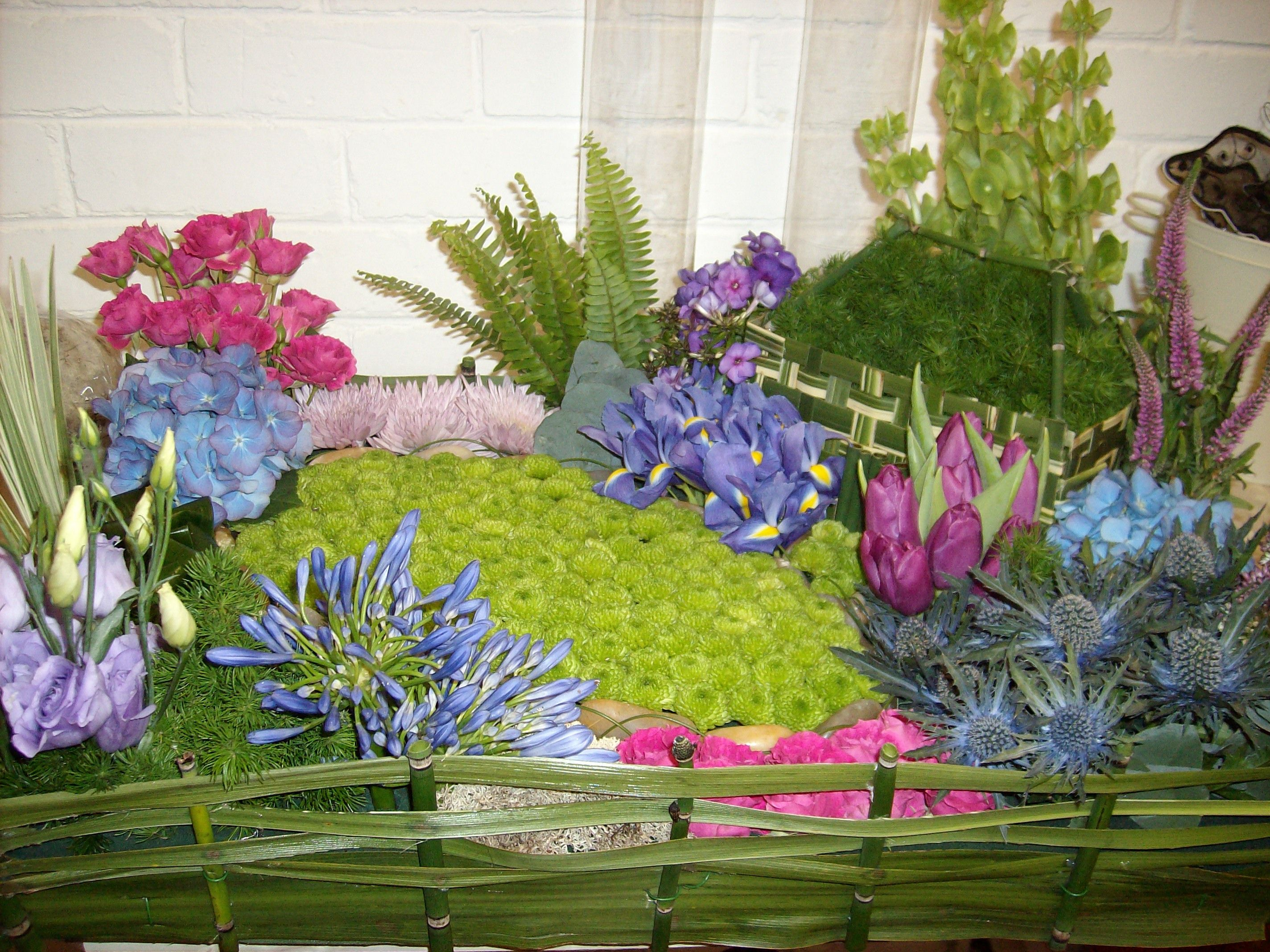 Garden inspired funeral tribute funeral floral designs pinterest garden inspired funeral tribute dhlflorist Gallery