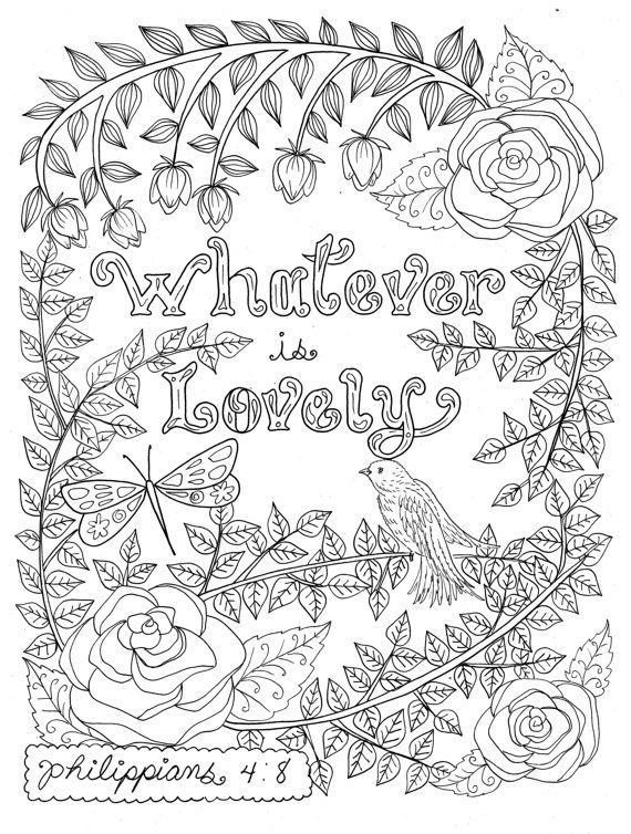 Scripture Garden Coloring Book Christian Coloring For All Etsy Christian Coloring Bible Coloring Pages Coloring Books