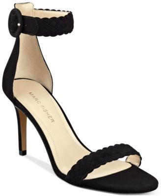 Marc Fisher Womens Braelin Leather Open Toe Ankle Strap Classic Pumps