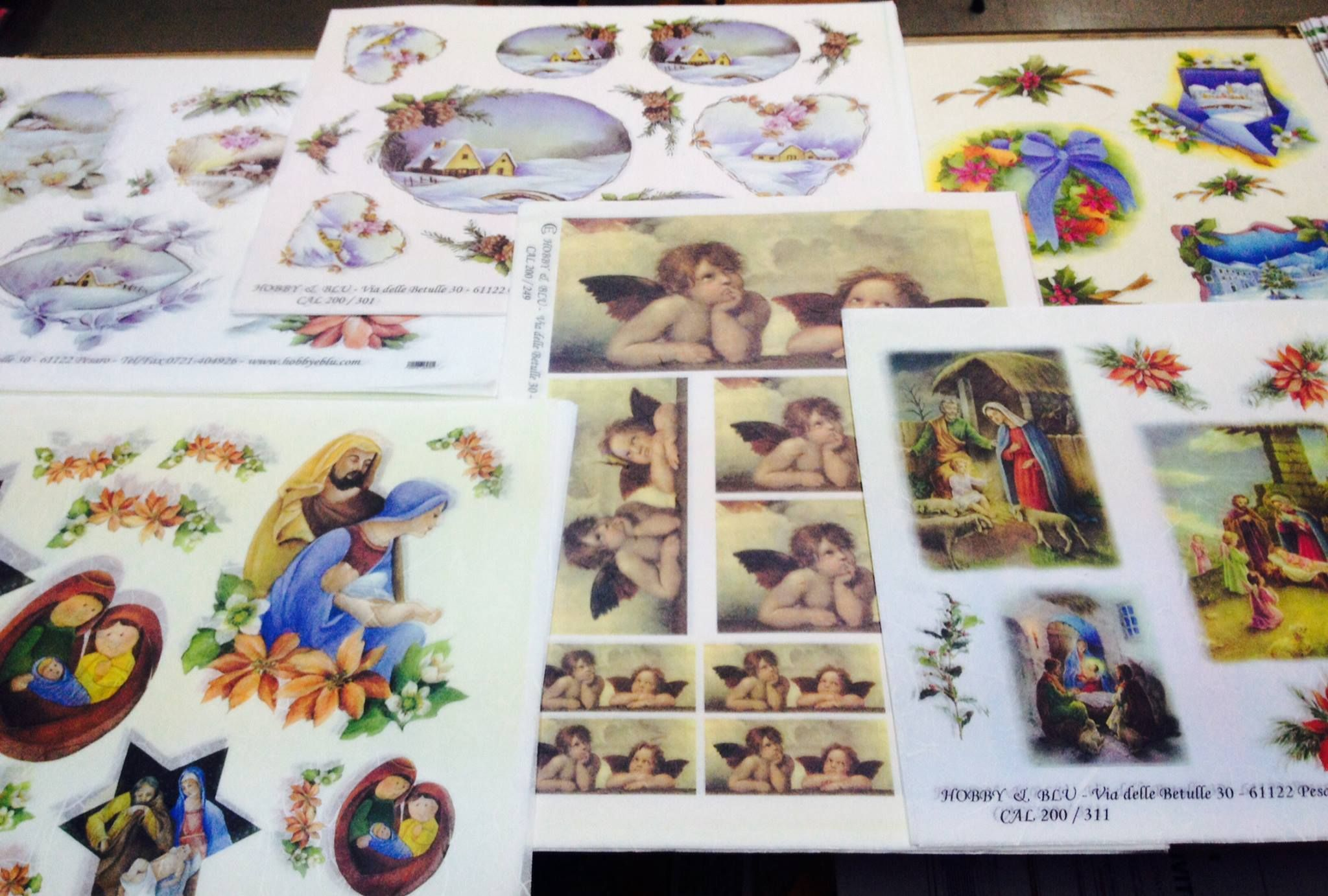 ULTIMI ARRIVI @ Colour Academy - Belle Arti , Bari Carta di riso pittorica per Decoupage Natale 2016  Carte riso stampate per decoupage con soggetti natalizi Natività, paesaggi natalizi, babbo natale, angeli, ghirlande, stelle di natale, presepi, miniature e decorazioni natalizie  Vieni a scoprire la nuova collezione #NATALE2016 #decoupage #bricolage #hobby #christmas #natale #bari #2k16
