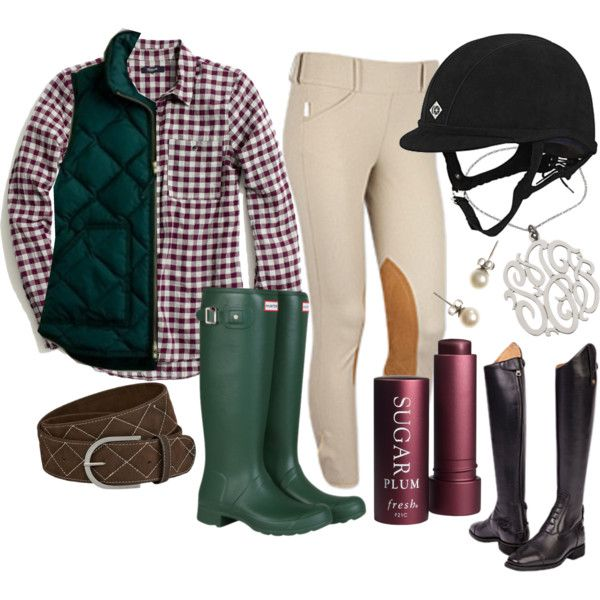 Hunter Green by rider-chic on Polyvore featuring Madewell, Hunter, J.Crew, Fresh, preppy, jcrew, hunter, equestrian and tailoredsportsman
