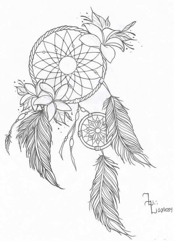 dream catcher drawing google search tattoo ideas pinterest