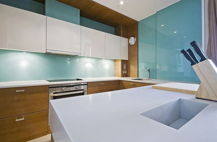 Nice Custom Backpainted Glass Backsplashes And Wall Panels; Parapan Cabinet Doors