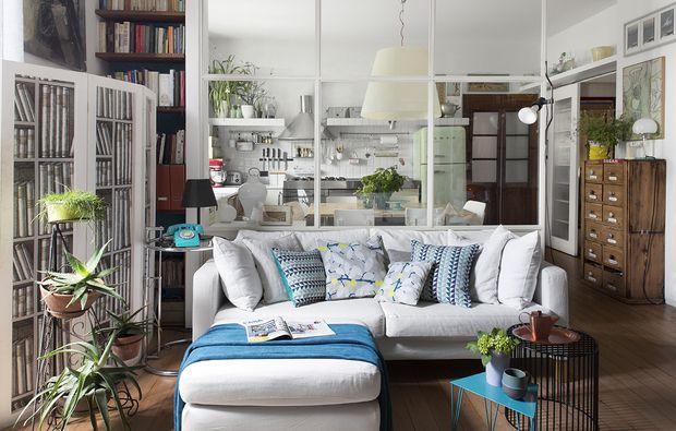 parete vetrata tra soggiorno e cucina: trasformazione di un open ... - Mobili Divisori Cucina Soggiorno
