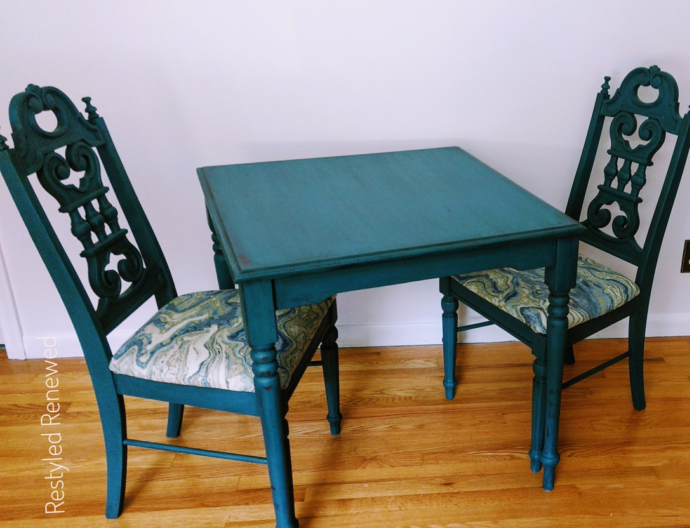 Single Post | Turquoise table, Painted dining chairs, Teak ...