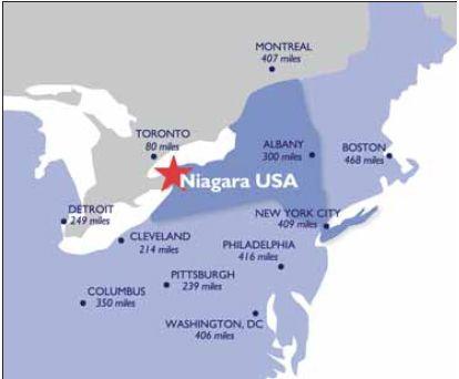 NYSMap PLACES IVE BEEN Pinterest Niagara falls ny Niagara
