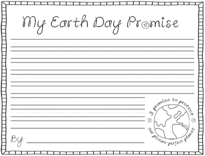 Free!! My Earthday Promise writing activity.  More printables at this site.