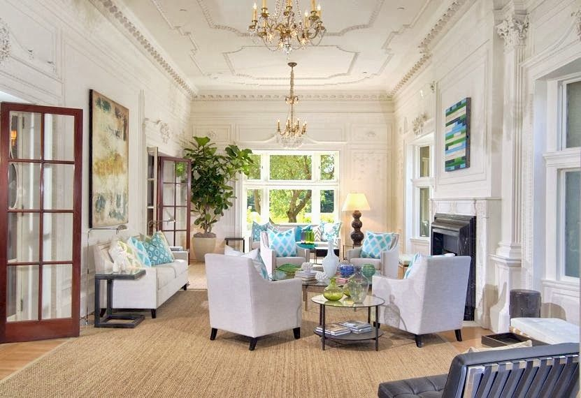 Luxury Classic Living Room With High Ceiling Decorating